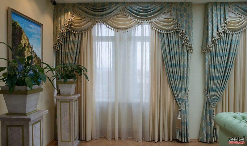 اشكال ستائر صالون راقية The Forms Of Luxury Salon Curtains 2018