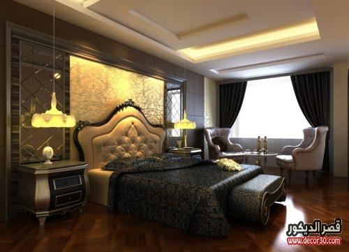 احدث تصميمات غرف النوم كلاسيك