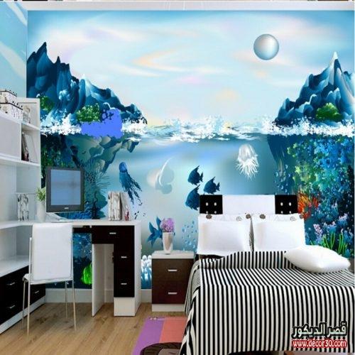 احدث ورق حائط 3d لغرف الاطفال