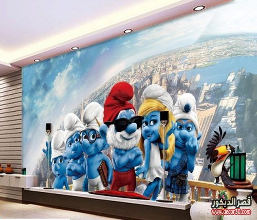 اشكال ورق حائط 3d لغرف الاطفال