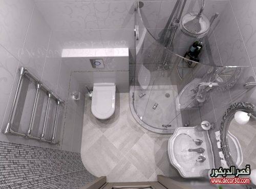 تصميم حمامات صغيرة فخمة