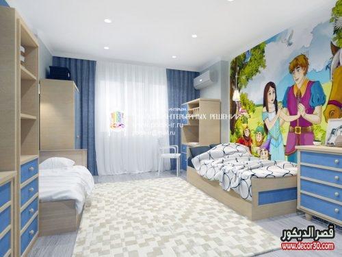 دهانات غرف الأطفال المودرن بسيط