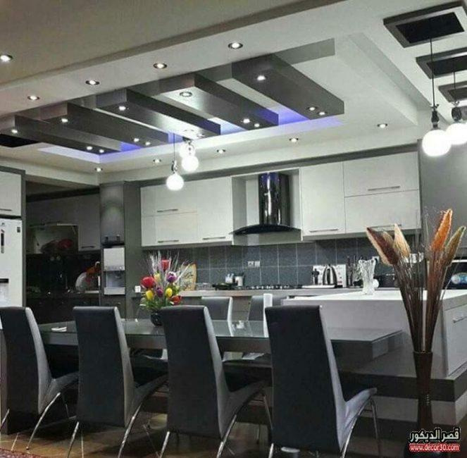 تصاميم جبس بورد للمطابخ Gypsum Board Designs For Kitchens قصر الديكور