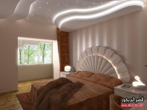 ديكورات جبس امبورد لغرف النوم