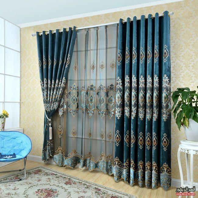 صور ستائر مودرن للريسيبشن 2017 Modern Curtains For Reception قصر