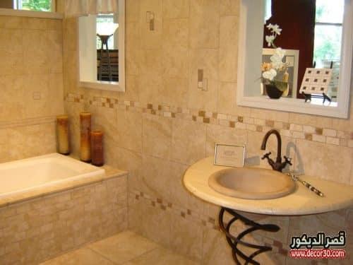سيراميك حمامات صغيرة وبسيطة