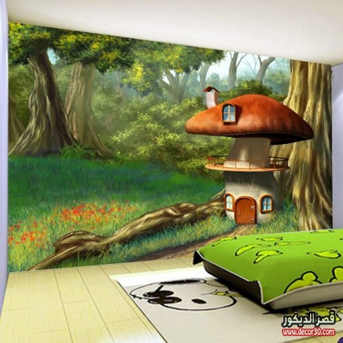 صور ورق حائط 3d لغرف الاطفال
