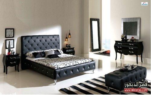 غرف النوم الكلاسيكية السوداء