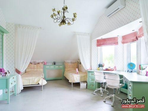 غرف نوم بنات سريرين