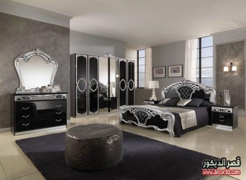 غرف نوم سوداء كلاسيك