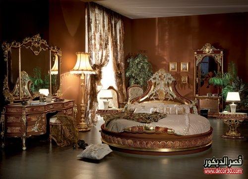 غرف نوم للعرسان مدهب
