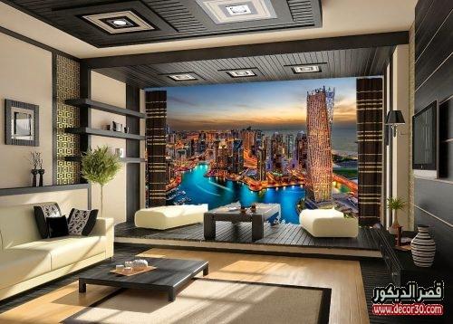 أشكال ورق الحائط 3d ا 3d Wallpaper Shapes قصر الديكور