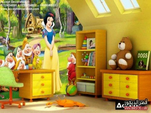 ورق حائط 3d لغرف الاطفال البنات