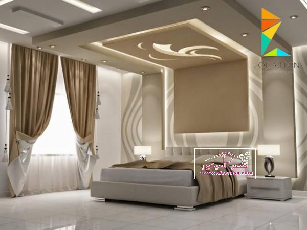 اسقف جبس غرف نوم ناعمه مساحة متوسطة