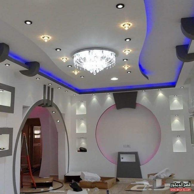 اشكال اسقف جبس مودرنmodern Gypsum Ceiling قصر الديكور