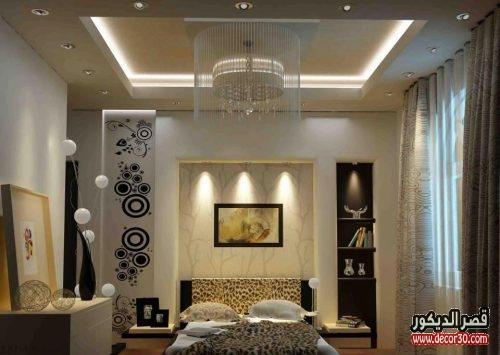 تصاميم جبس بورد لغرف النوم بسيطة