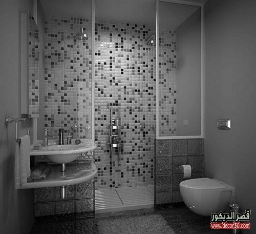 تصاميم حمامات صغيرة مودرن