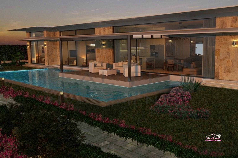 تصاميم حمامات سباحة لفلل مودرن