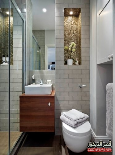 حمامات مودرن مساحات صغيرة
