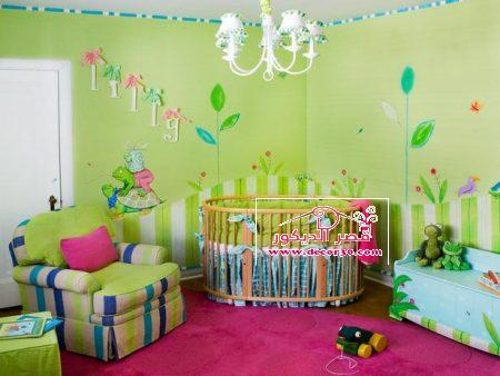 صور دهانات غرف اطفال اولاد حديثة