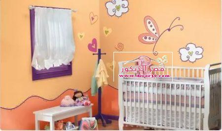 صور دهانات غرف اطفال اولاد بسيطة