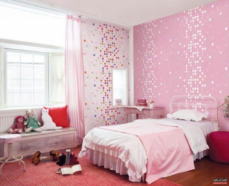 دهانات غرف اطفال بينك Paint Kids Rooms Pink قصر الديكور