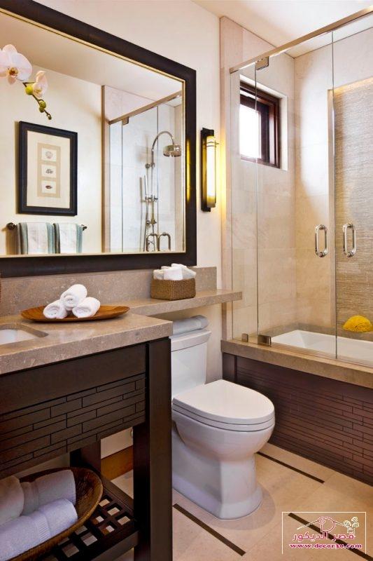 حمامات مودرن صغيرة