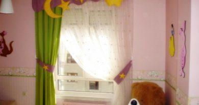 ستائر شيفون لغرف الأطفال جديدة