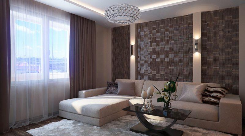 غرفة معيشة باللون البيج