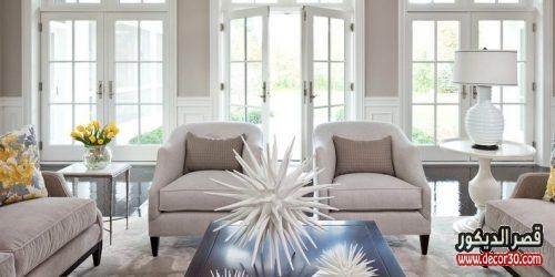 غرف معيشة باللون البيج