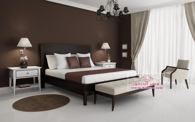 غرف نوم باللون البني بالصور كتالوج 2018,Bedrooms are brown   قصر