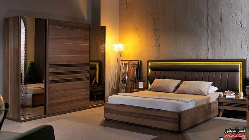 غرف نوم باللون البني بالصور كتالوج 2018bedrooms Are Brown قصر الديكور