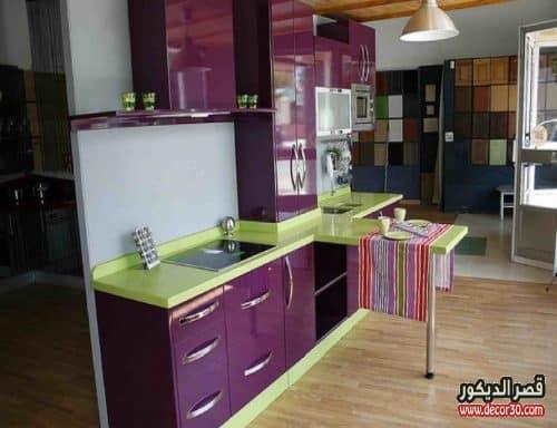 صور مطابخ الوميتال موف Kitchens Alumital In Purple قصر الديكور