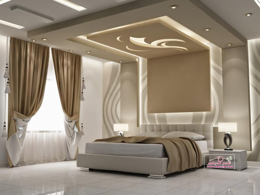 اسقف جبس غرف نوم رئيسية,Gypsum ceiling master bedroom   قصر الديكور