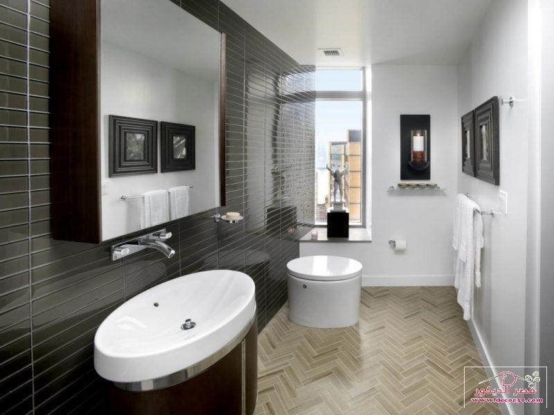 ديكورات حمامات صغيرة وبسيطة
