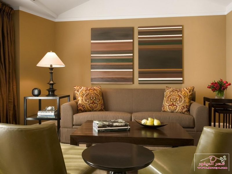 غرفة معيشه باللون البيج
