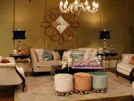 تصميمات جديده ل غرف المعيشه باللون البيج