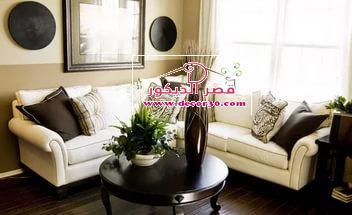 اجمل واحدث اشكال غرفة معيشه باللون البيج بتصميمات جذابه
