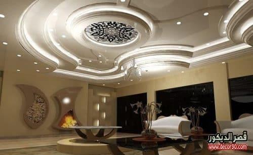 تصميمات جديدة لاسقف الجبس