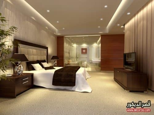 ديكورات جبس غرف النوم حديثة