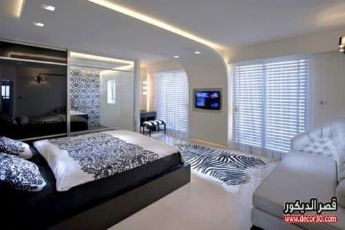 ديكورات جبس غرف النوم مودرن