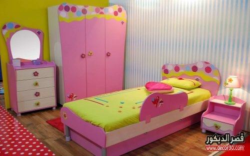 غرف نوم اطفال بسرير ودولاب