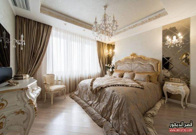 تصميمات غرف نوم للعرسان كلاسيك