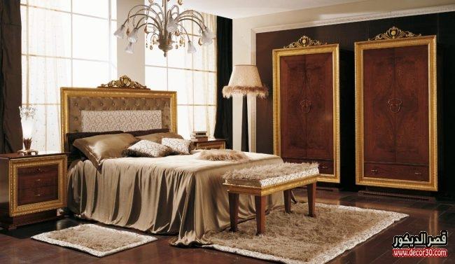تصميمات غرف نوم هادئة كلاسيك
