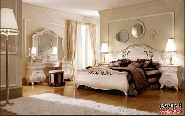 غرف نوم فاخرة كلاسيكية