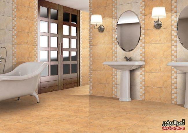 تصاميم سيراميك حمامات كليوبترا