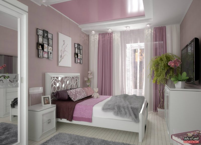 دهانات غرف نوم الوان الحوائط الحديثة Modern Bedroom Paints قصر