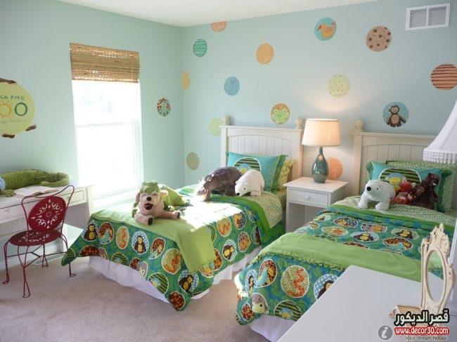 غرف نوم اطفال بسريرين Children S Twin Bedroom قصر الديكور