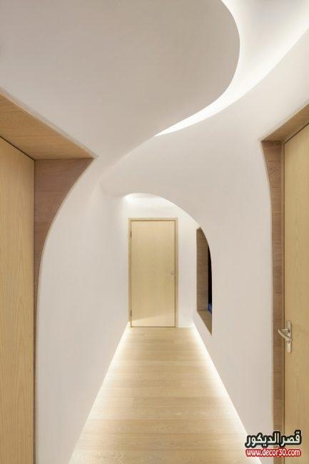 اشكال جبسيات مداخل للصالات والممرات والغرف بتصميمات حديثة قصر الديكور