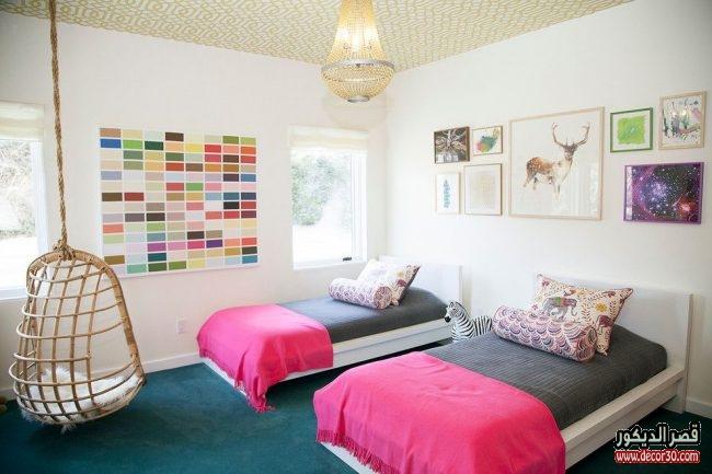 ديكورات غرف نوم بسريرين للأطفال